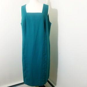 2/$25 Teal work dress